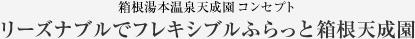 箱根湯本温泉天成園 コンセプト リーズナブルでフレキシブルふらっと箱根天成園
